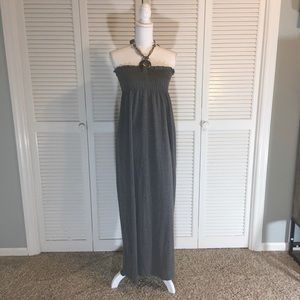 Just Love Grey Maxi With Necklace Style Tie M
